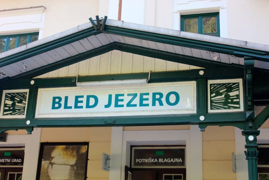 Bled Jezero Train Sign